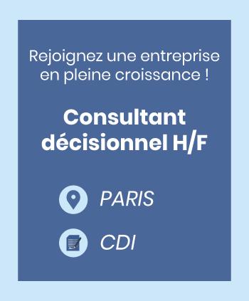 Consultant décisionnel Paris