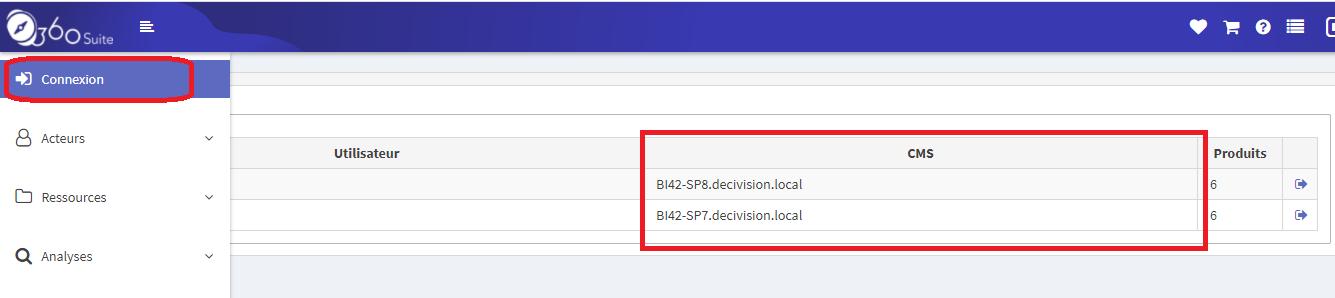 Connexion local 360Plus