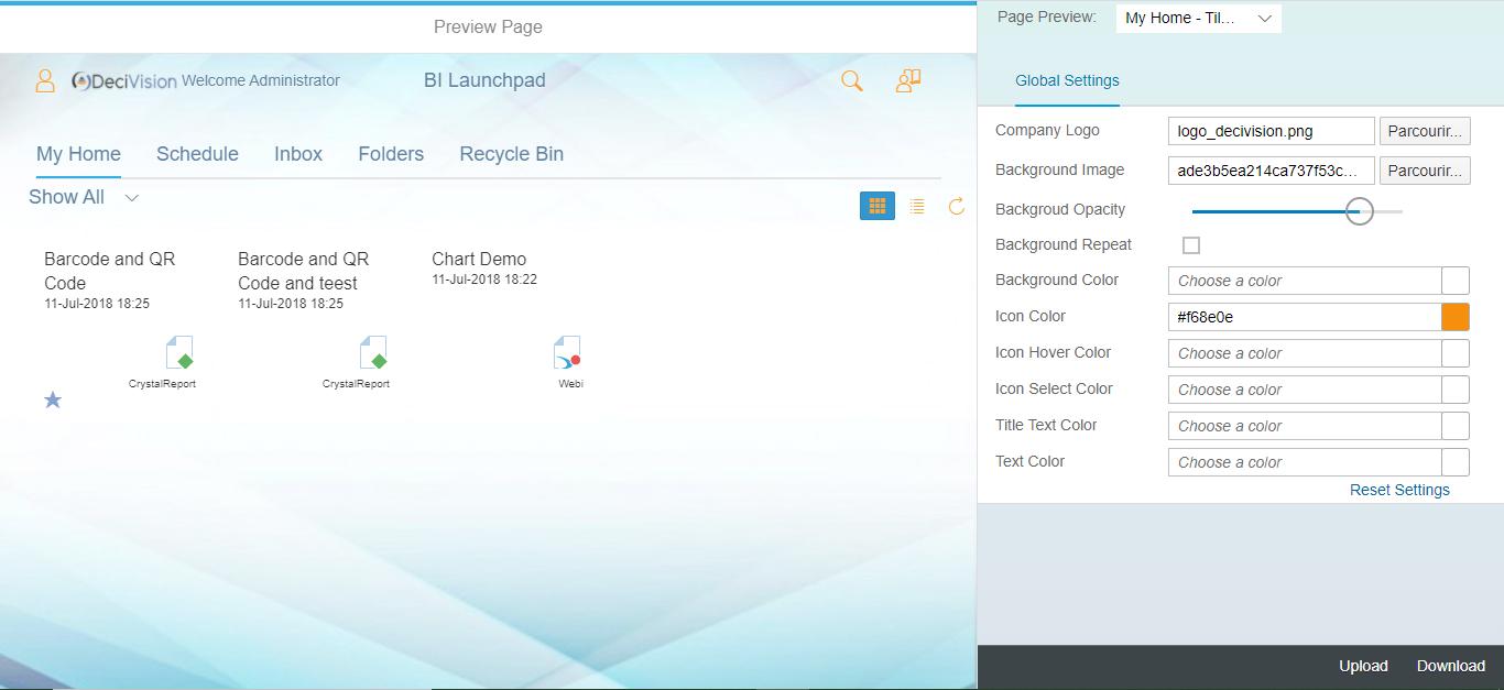 Choix de la couleur des icones SAP Theme Designer