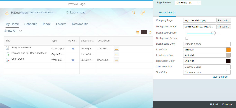 Choix de la couleur au survol du texte sur SAP Theme Designer