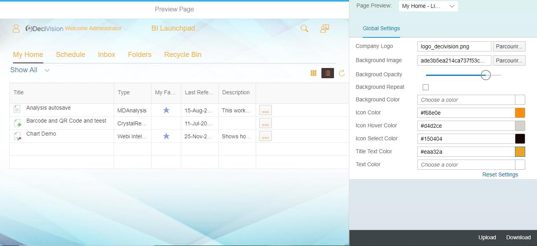 Choix de la couleur des titres SAP Theme Designer