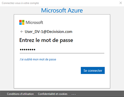 Connexion au compte Microsoft