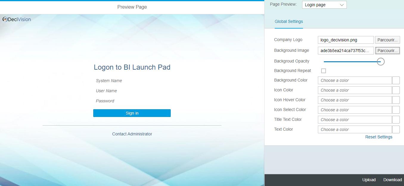 Personnalisation de la couleur de fond dans SAP Theme Designer