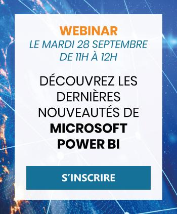 Inscription webinar Microsoft Power BI du 28 septembre